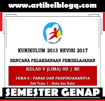 gambar rpp k13 kelas 5 revisi 2017 semester 2