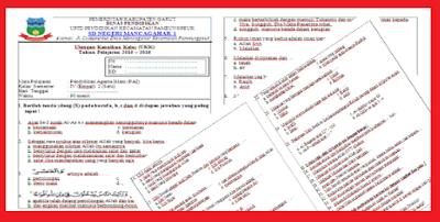 Soal UKK Kelas 4 SD/MI Lengkap Semua Mata Pelajaran