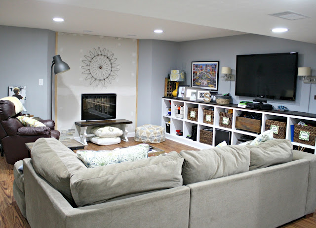 Great wood-looking flooring for basements