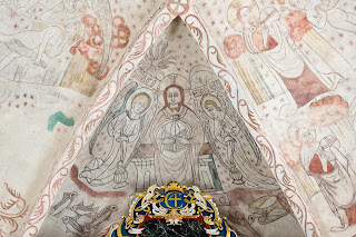 iconography, mural, christian, god, angel, paint, editorial, church, wall, face, christ, fresco, denmark, image, gothic, https://www.shutterstock.com/image-photo/christ-majesty-gothic-fresco-danish-church-524855998
