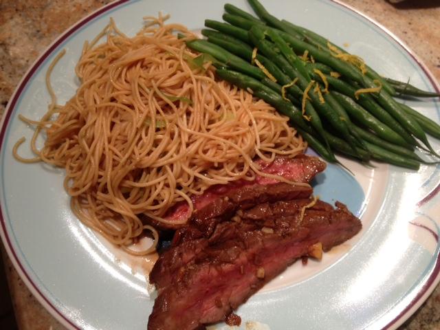 Grilled Flank Steak on Livliga Portion Control Halsa Dinner Plate