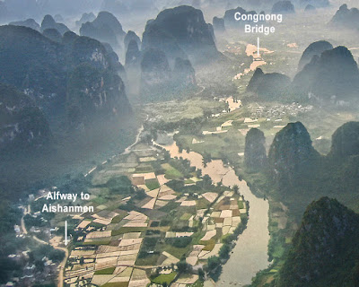 Yulong valley view between Gongnong bridge and Aishanmen village