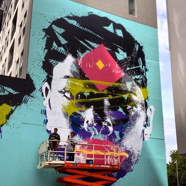 New Street Art Portraits by Australian Artist Askew in New Zealand For Rise Urban Art Festival. 2