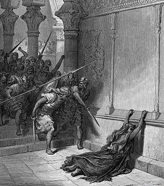The Death of Athaliah by Gustave Doré