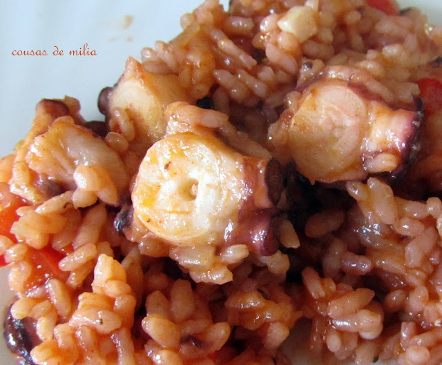 Pulpo con arroz