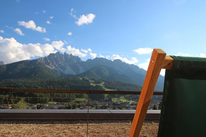 Blick vom Balkon im Leitlhof