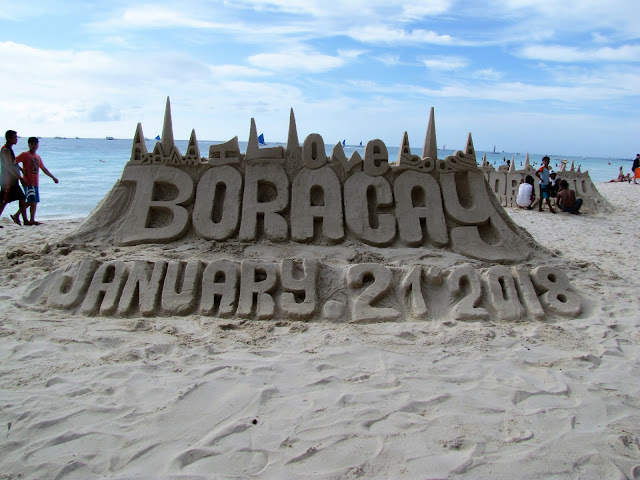i love boracay white beach philippines