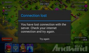 Cara memperbaiki conection lost pada game Clash of clans COC