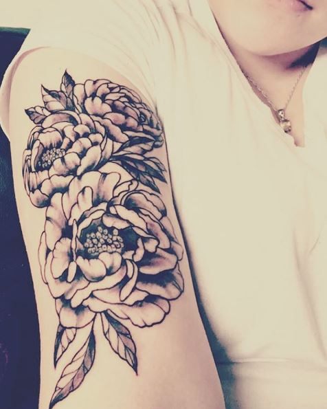 32 Best No Line Flower Tattoo Images On Pinterest: 50+ Mens Floral Tattoos Designs (2019) Small & Simple