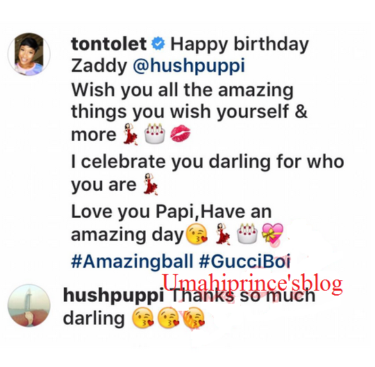 Following The Rumor Of Their Affair Tonto Dikeh Wishes Her Darling Hushpuppi A Happy Birthday On IG Page