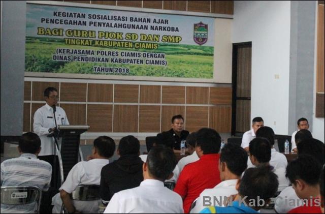 BNN Test Urine 245 Guru SD dan SMP di Ciamis