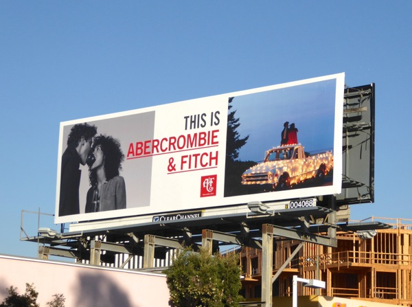 This is Abercrombie Fitch Holidays 2016 billboard