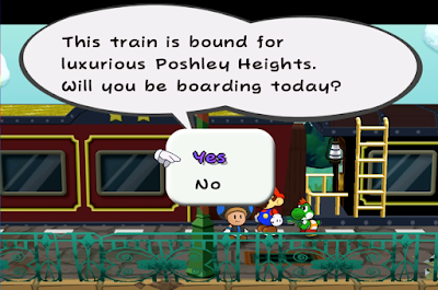 Paper Mario The Thousand Year Door Excess Express bound for luxurious Poshley Heights Toad conductor