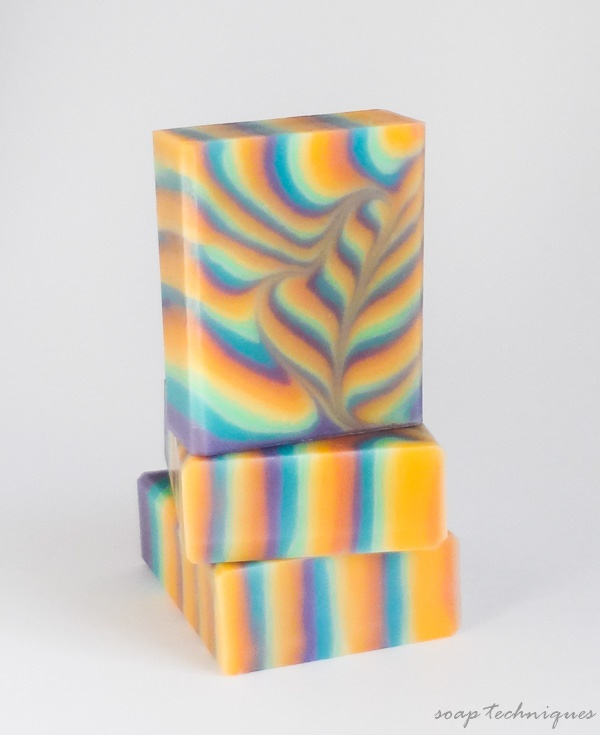 """rainbow heart"" - cold-process soap by Soap Techniques"