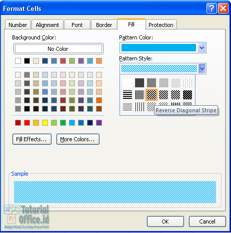 Pattern style microsoft excel