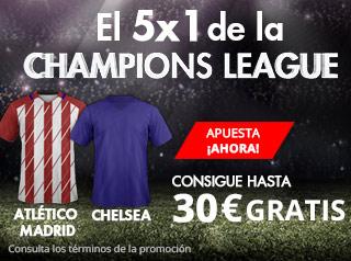 suertia promocion champions Atlético vs Chelsea 27 septiembre
