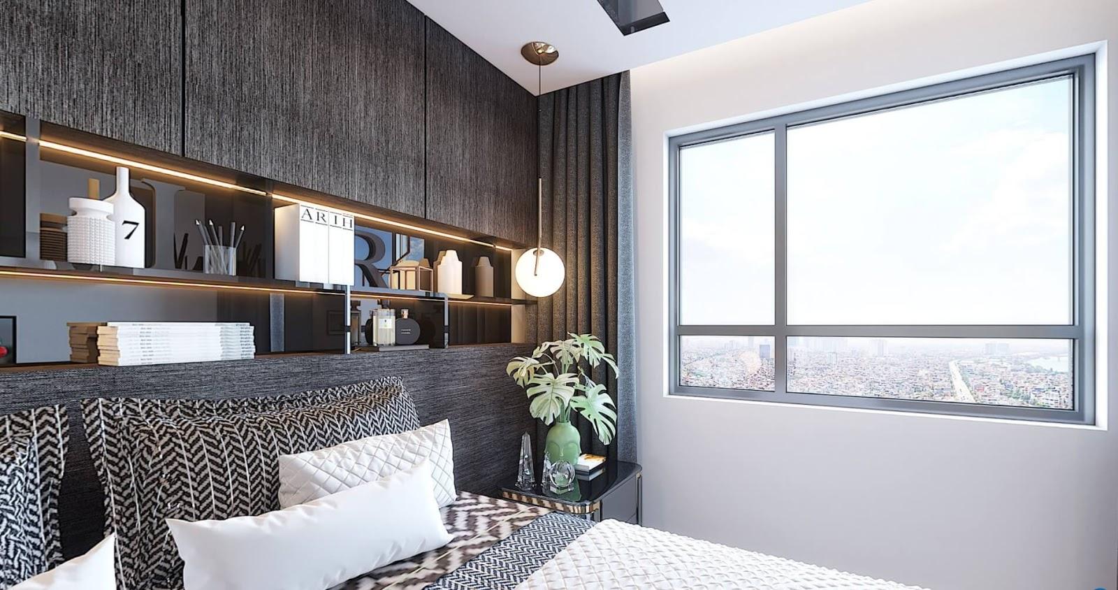 Phòng ngủ của dự án Amber Riverside Minh Khai