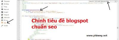 Kiem tien onlien - chỉnh tiêu đề blogspot