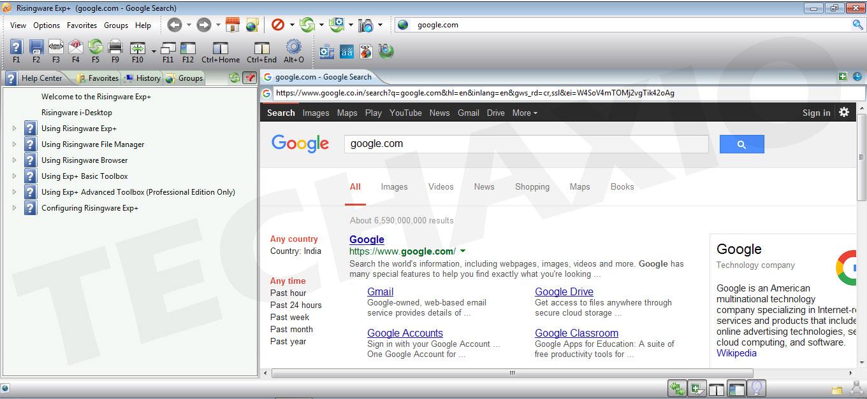 Risingware Browser Screenshot