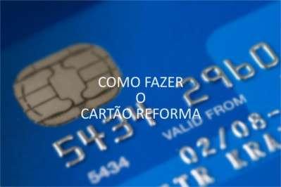 Cartão reforma com texto: Como Fazer o Cartão Reforma.