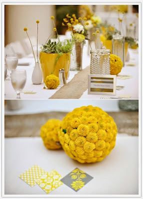 summer wedding yellow color decoration