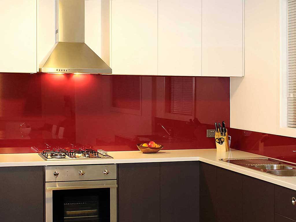 color glass kitchen