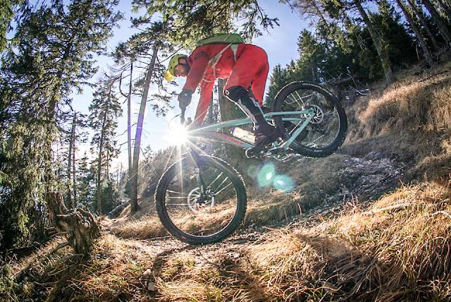 Abfahrt Trail Monte Roen Mountainbike