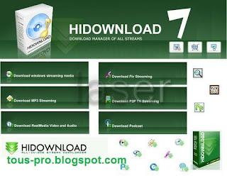 تحميل برنامج HiDownload لتحميل الفديوهات والصوتيات من النت