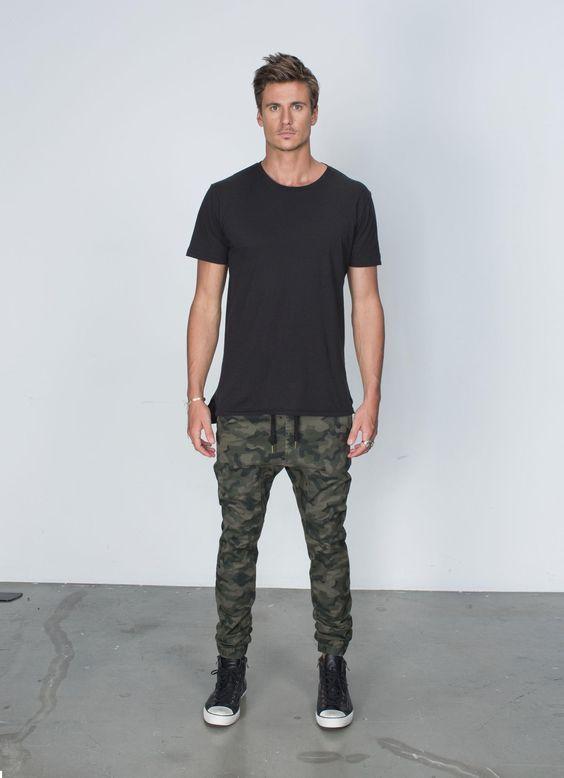 calça masculina camuflada