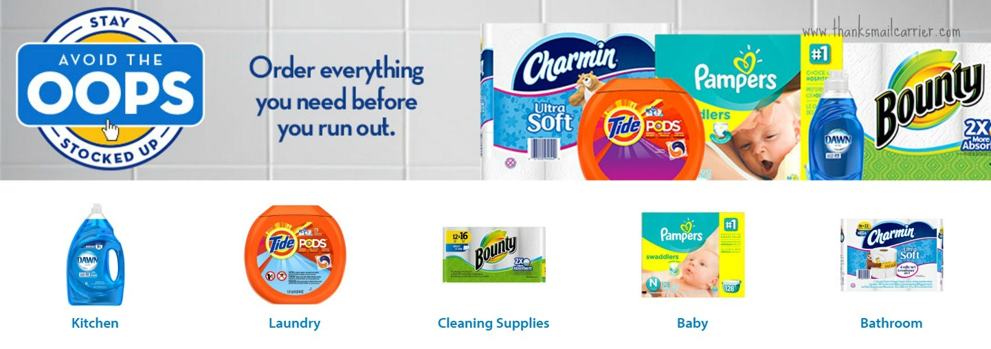 P&G Walmart Avoid the Oops