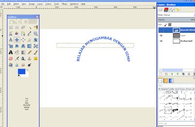 Cara Memutar Teks Melengkung di GIMP9