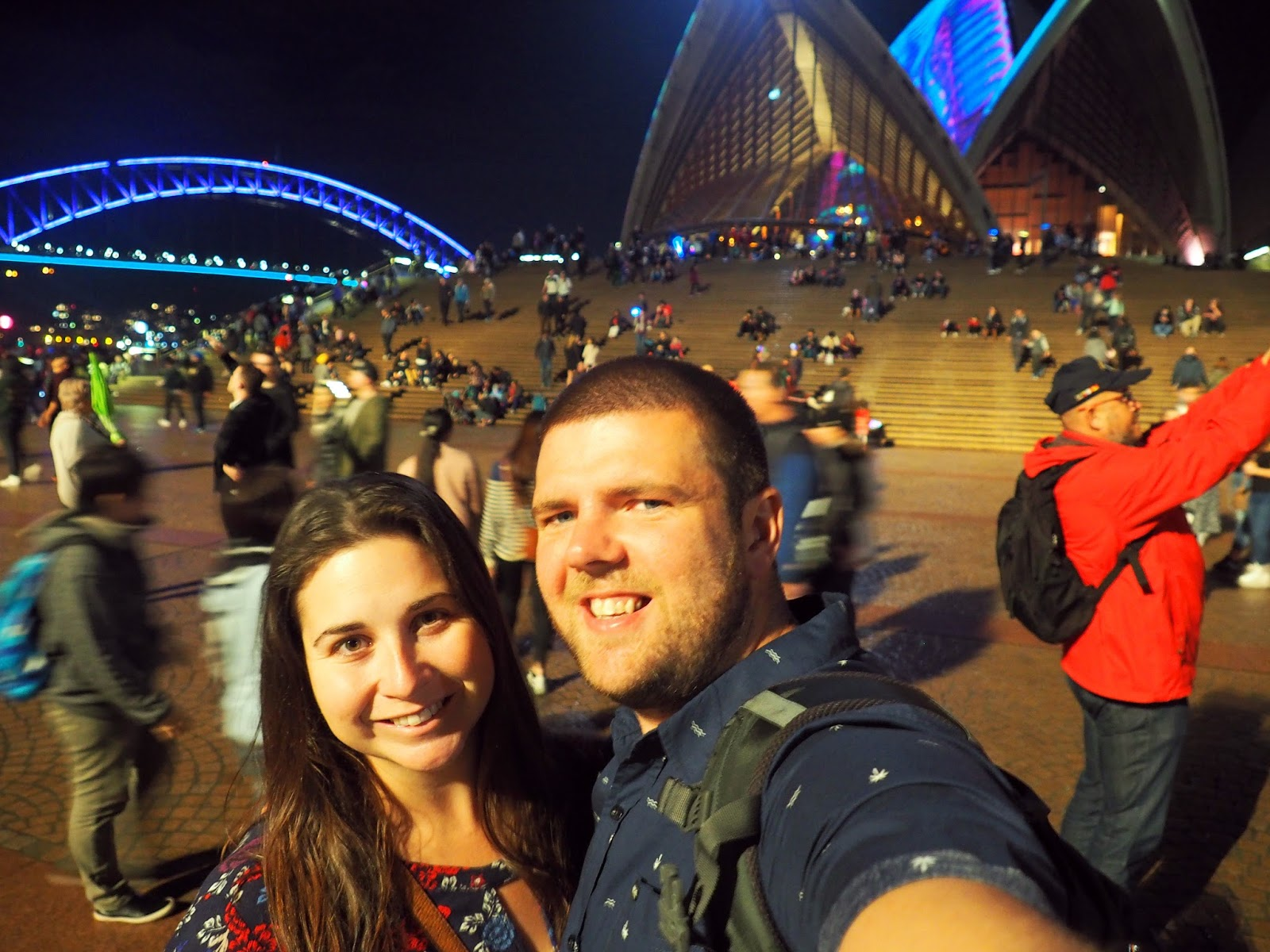 Couple at Vivid Sydney Opera House