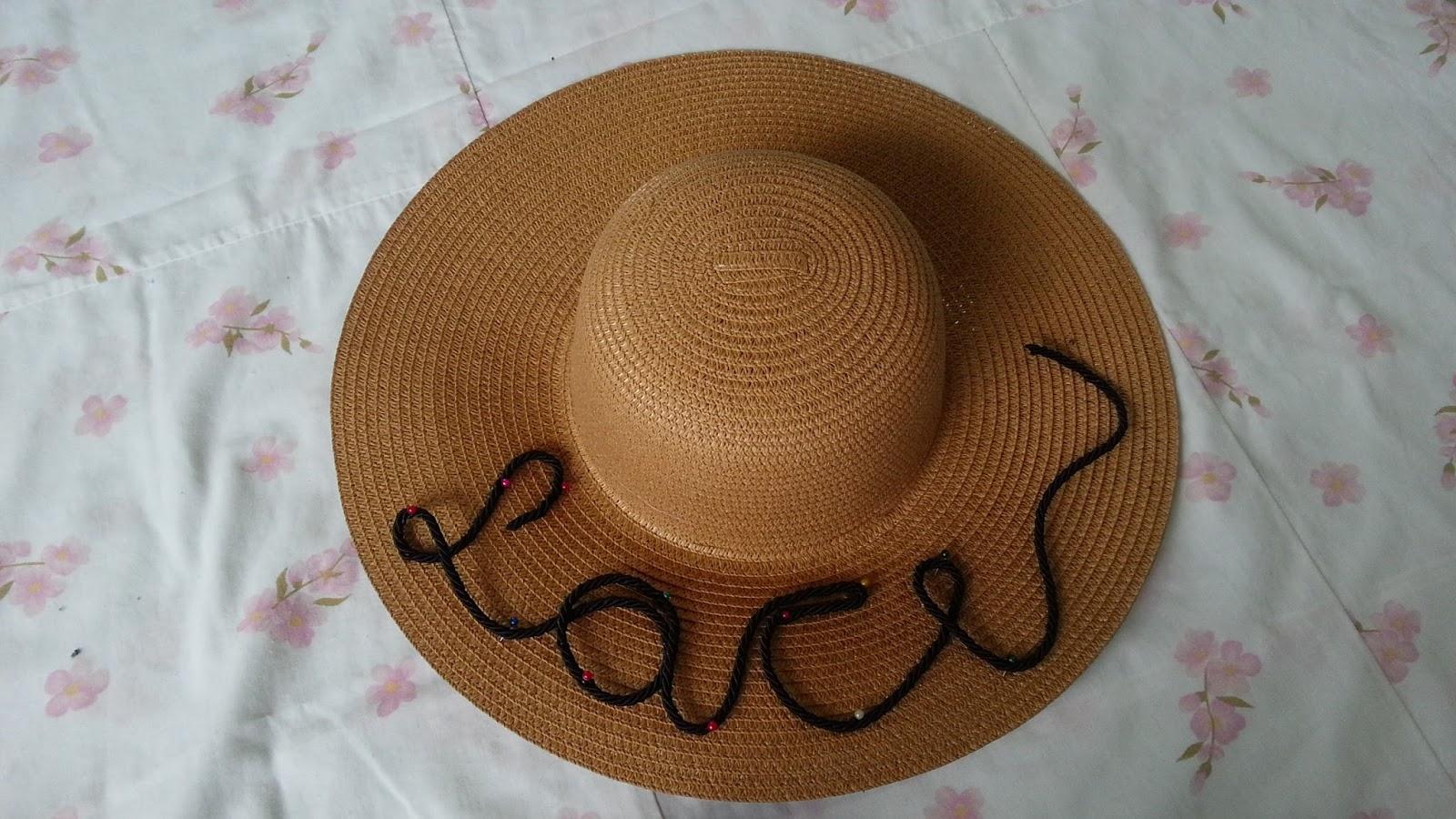 DIY  Chapéu de Praia Personalizado Lace Moraes 25650a8310f
