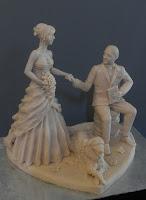 cake topper artistici fatti a mano statuine action figure da colorare orme magiche
