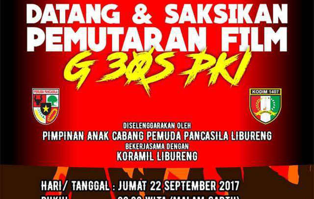 Malam Ini, PAC PP Libureng Nobar Film G30S/PKI