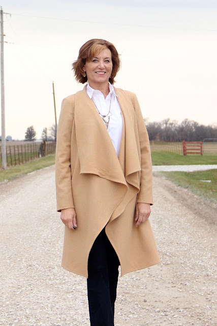 Butterick 6244 wool coat made from Mood Fabrics' wool coating