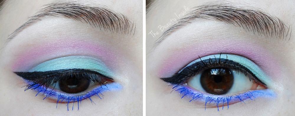 Pastel makeup, mint makeup, pastel goth makeup liz breygel january girl