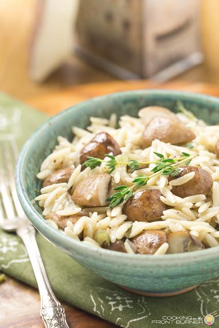 mushroom thyme orzo recipe