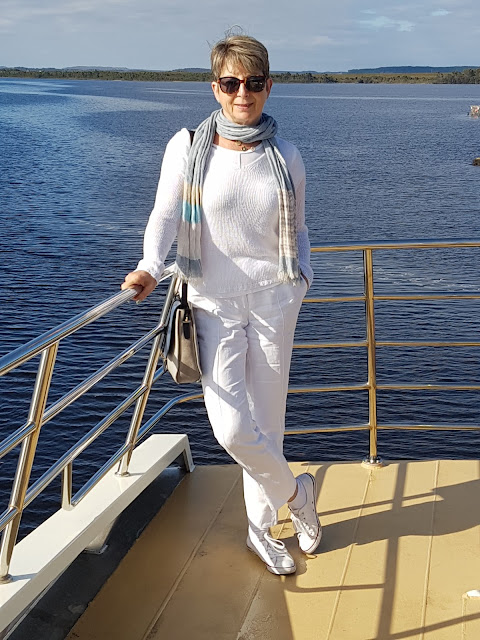 Our holidays in Tasmania, on board the cruise on Georges river