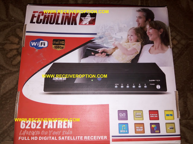 ECHOLINK 6262 PATREN HD RECEIVER POWERVU KEY NEW SOFTWARE