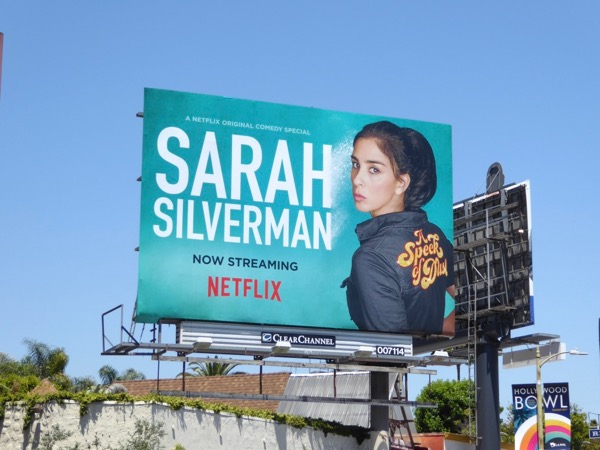 Sarah Silverman Speck of Dust standup billboard