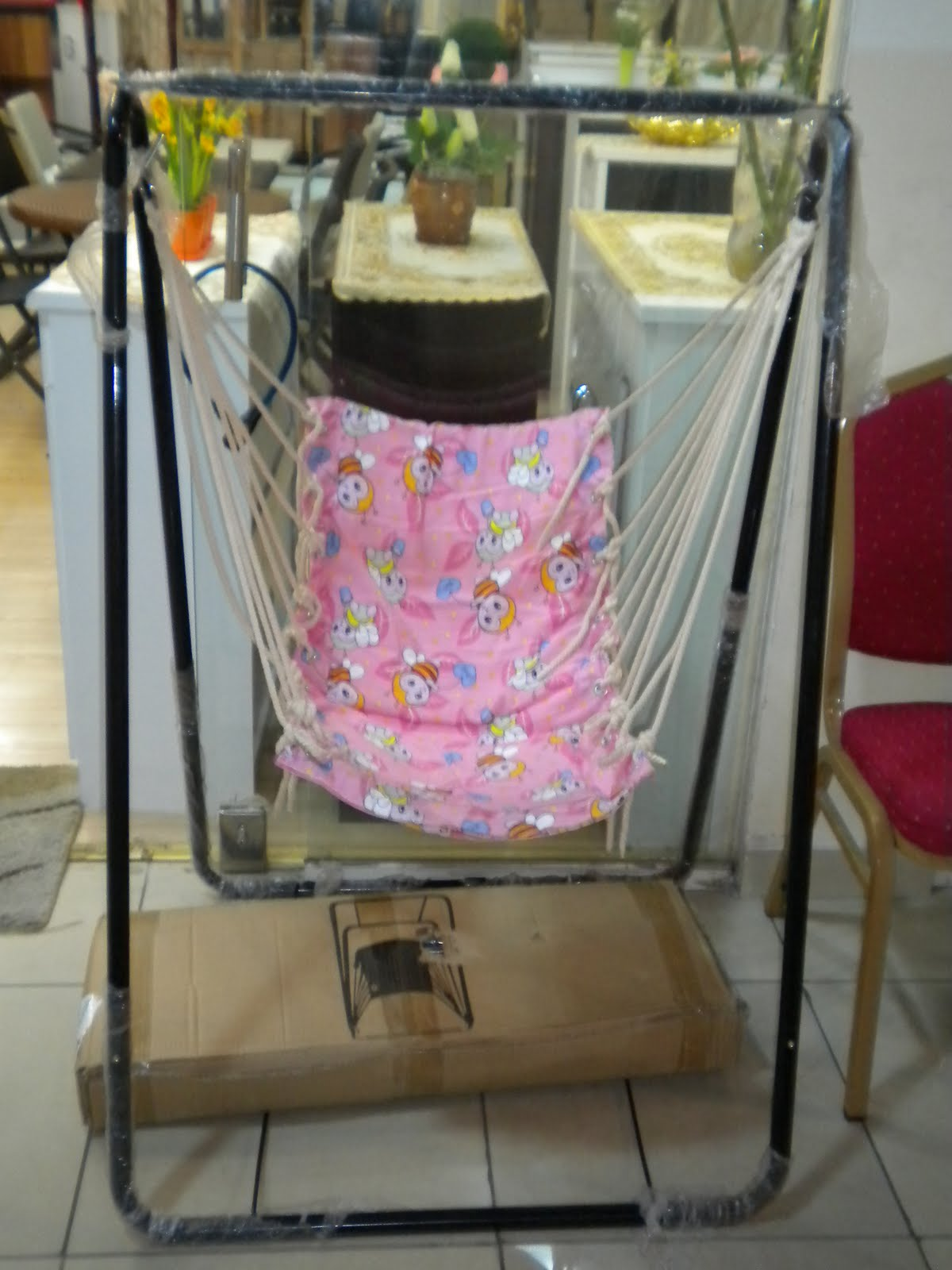 swing chair dragon mart cheap covers for party here today dubai tomorrow window washer a baby air i found this little jewel off the main strip how cute is that