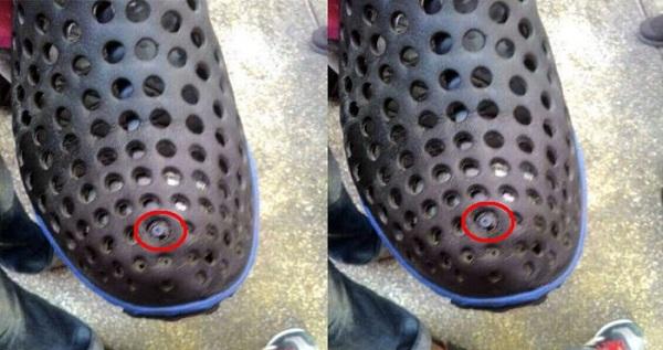 Para penjahat semakin hari semakin akil saja Jika Lihat Pria Menggunakan Sepatu Seperti Ini, Hal Mengerikan Sedang Mengancam Kamu