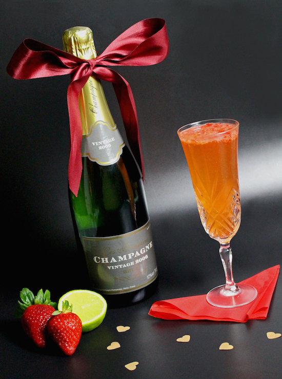 Strawberry Lime Bellini Recipe