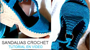 Sandalias Crochet / Tutorial en video