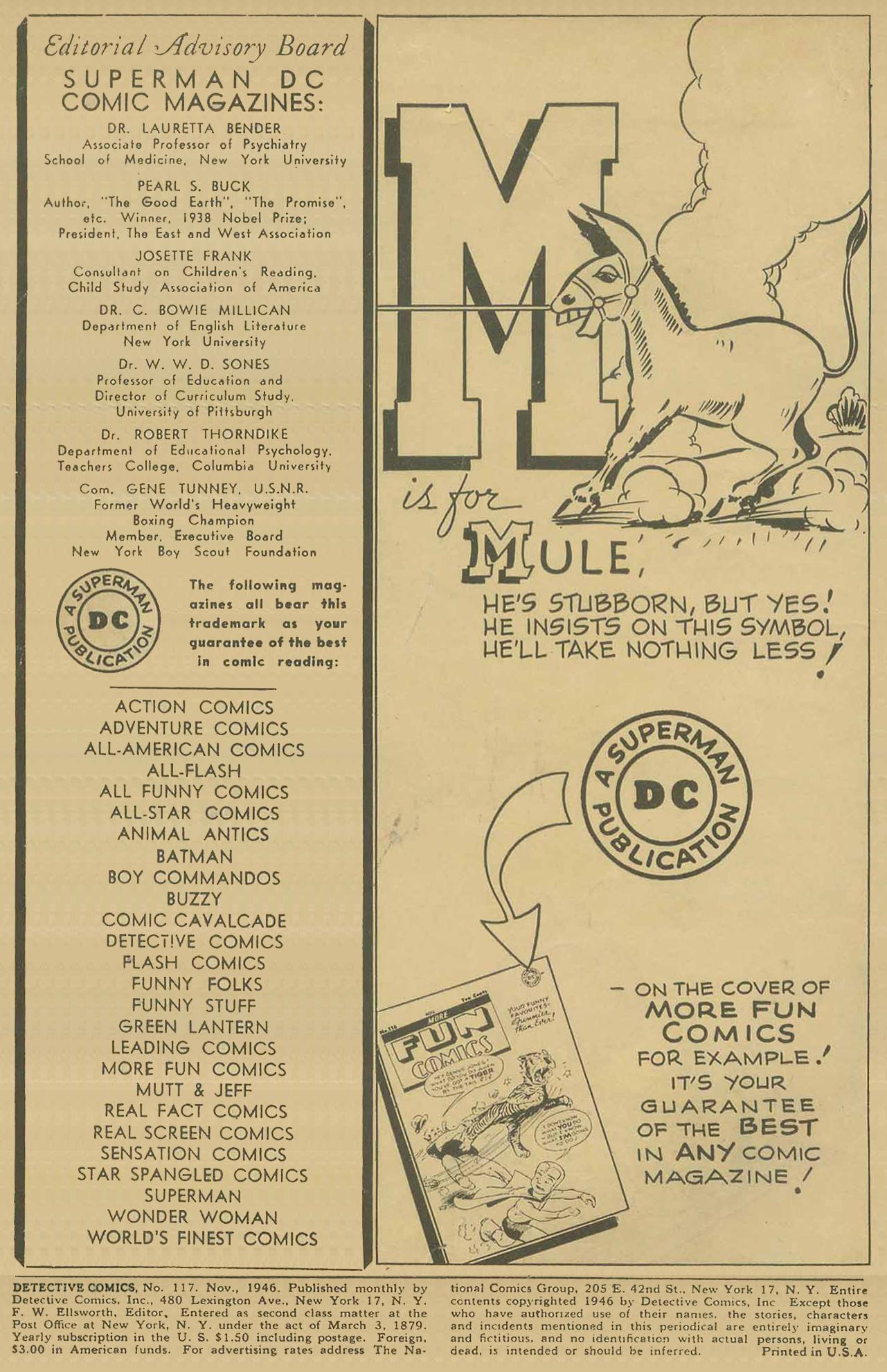 Detective Comics (1937) 117 Page 1