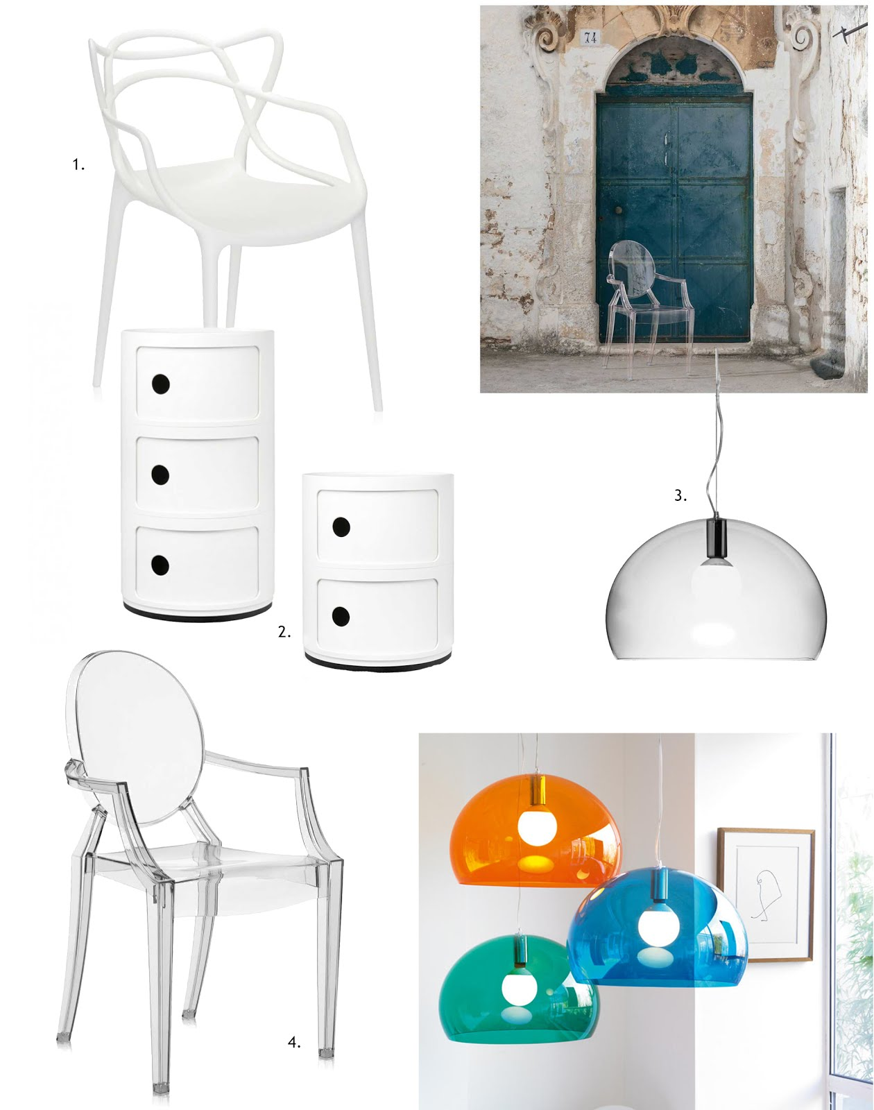 Kartell, mister design, Louis Ghost chair, FL/Y lamp, componibili, interieur blogger, belgie, masters chair