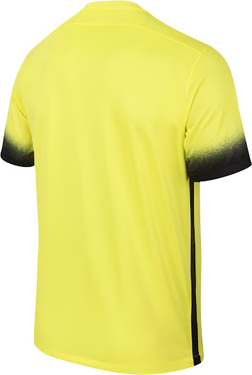 54fdee69f81 The new Nike Inter Milan 2015-2016 Third Kit features a striking yellow  base color with stunning black accents.