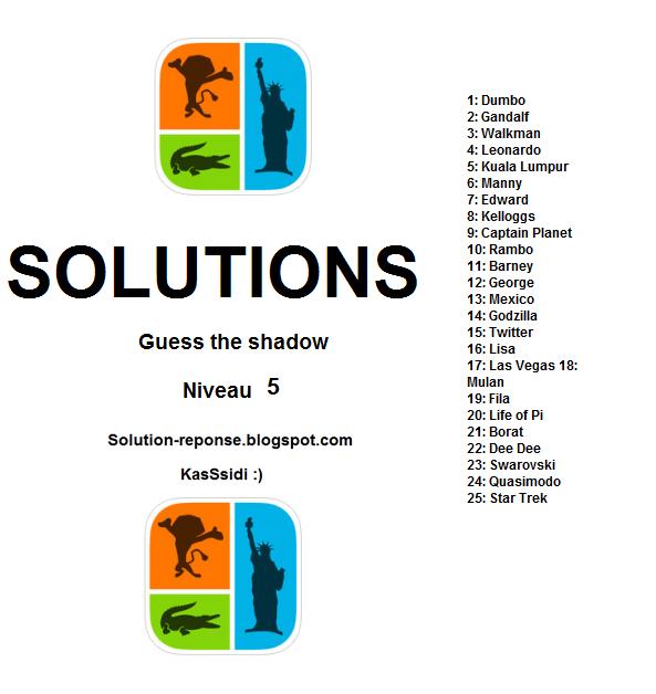 ddb19893e7cd33 beautiful devinez l ombre niveau solution toutes les solutions r ponses  with solution icomania niveau 8