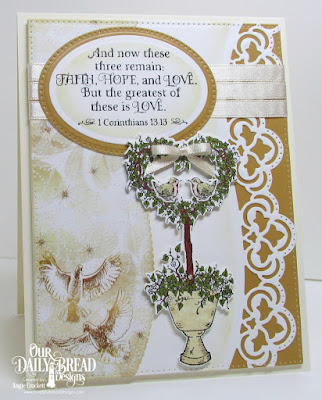 ODBD Happy Wedding Day, ODBD Custom Heart Topiary Dies, ODBD Custom Leafy Edged Borders Dies, ODBD Custom Pierced Rectangles Dies, ODBD Custom Pierced Ovals Dies, ODBD Custom Ovals Dies, ODBD Wedding Wishes Paper Collection, Card Designer Angie Crockett